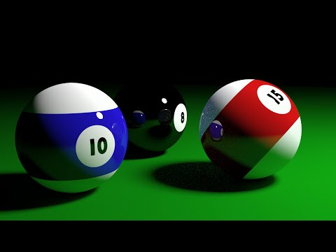 Blender Beginners Tutorial: How To Create Simple 3d Pool Balls By First Creating Images In Blender T