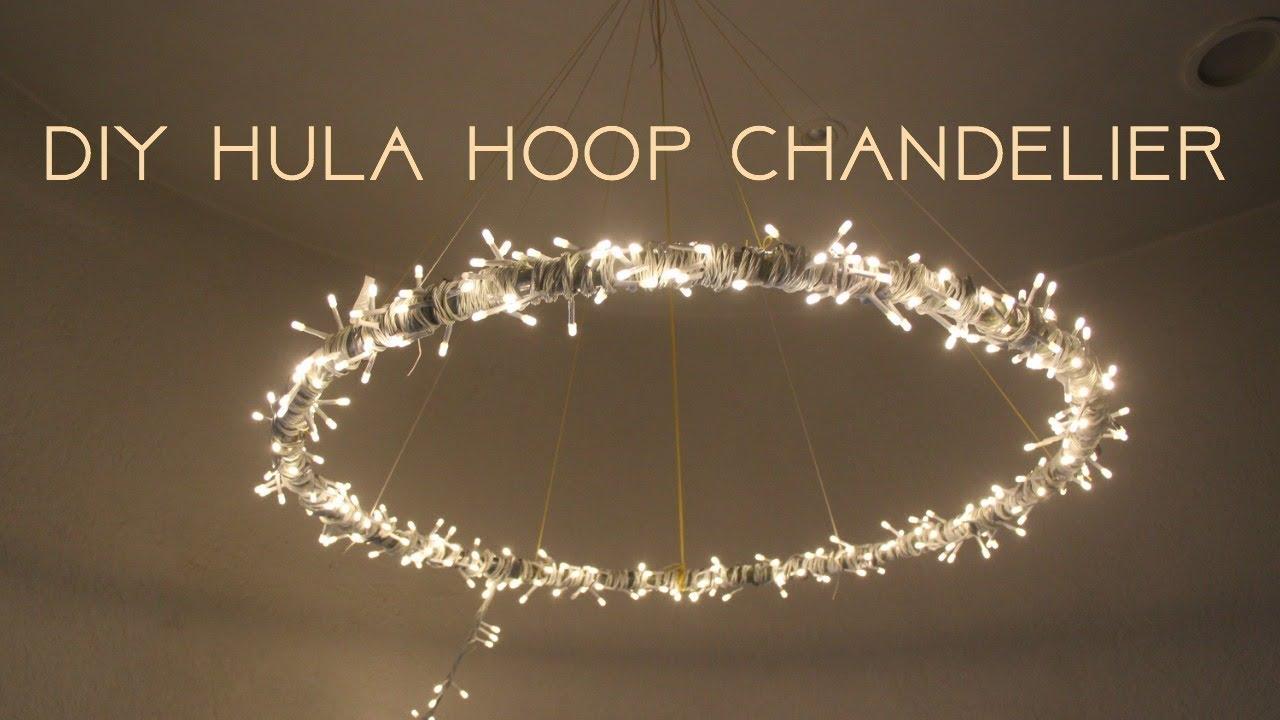 Diy Hula Hoop Chandelier Ishwari Thadhani