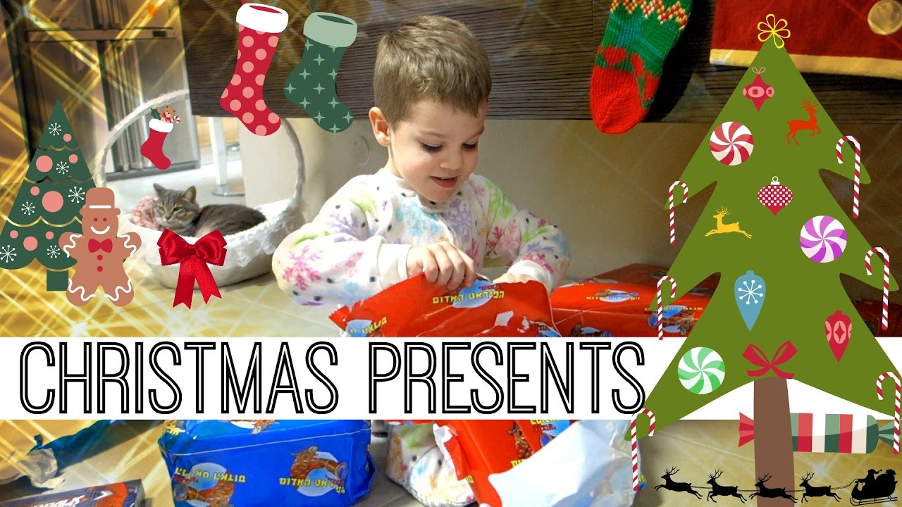 Christmas Morning Opening Presents Surprise Toys Spiderman
