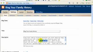Part 2: How to Blog Your Family History - Genealogy Blogging