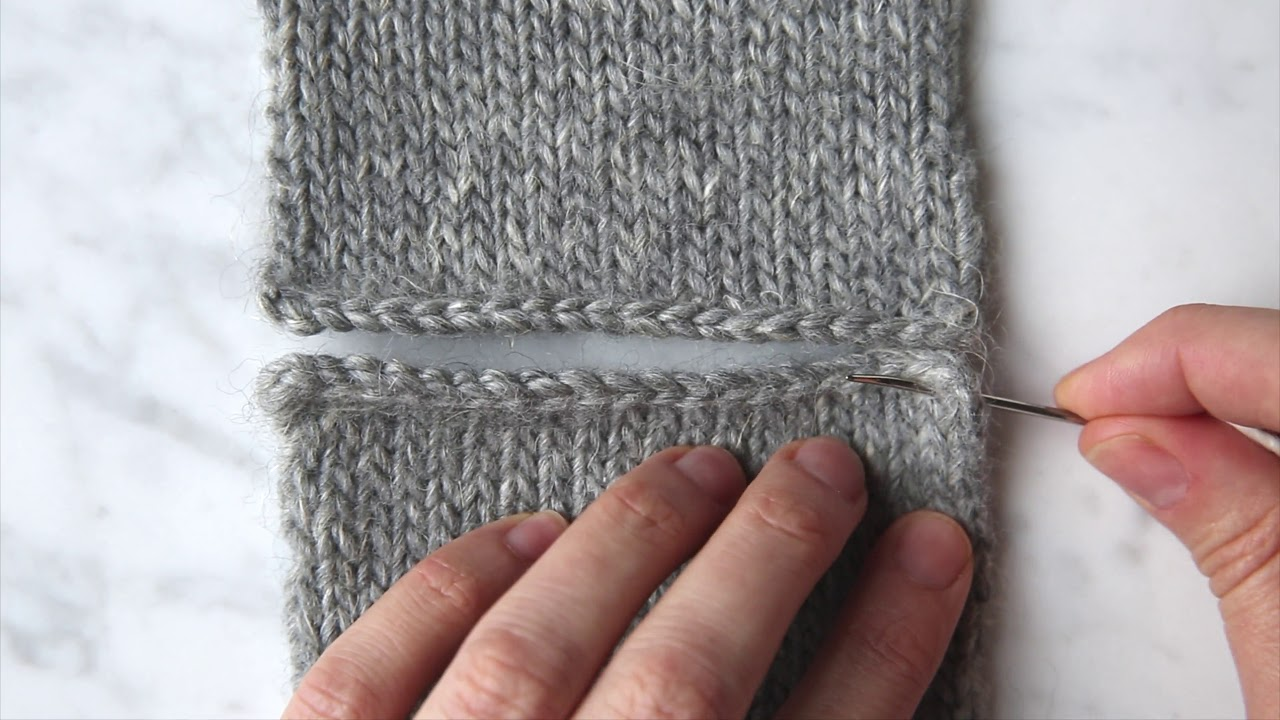 Seaming Stockinette Stitch Horizontally Tutorial | Purl Soho