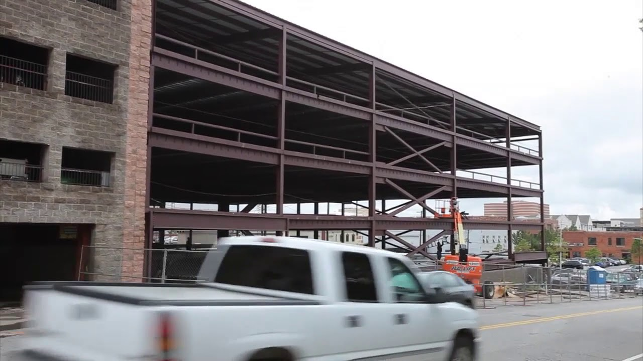 Garage Builders Okc Garage Construction Will Add About 1 800 New Parking Spaces In Downtown Oklahoma City 2014 08 04