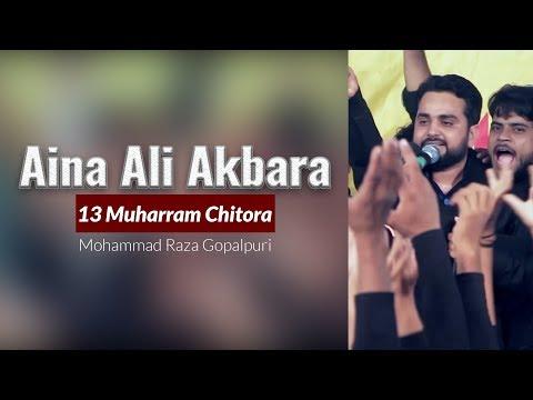 Aina Ali Akbara a.s |  Mohammad Raza Goplapuri | 13 Muharram Chitora | Noha Hazrat Ali Akbar a.s