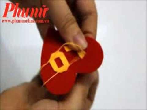 Hướng dẫn tự làm quà tặng móc khóa hình trái tim