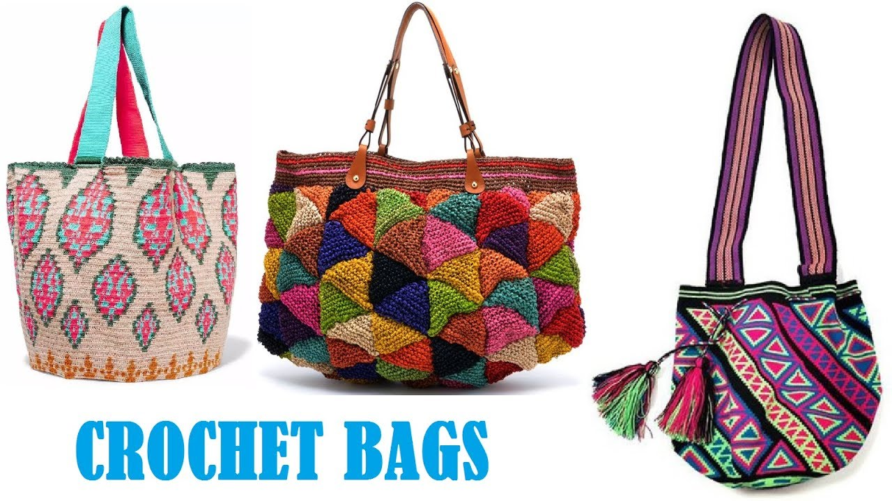 Latest Boho Crochet Bags Designer Woolen For S