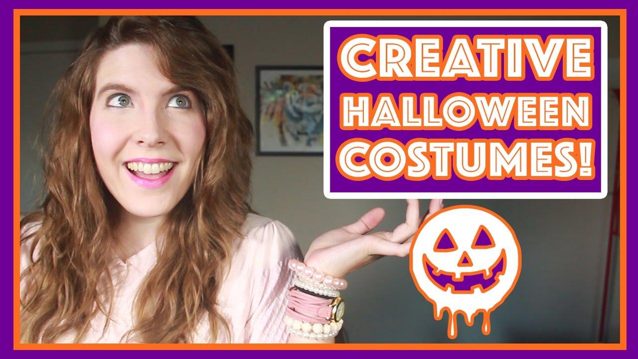 how to make a creative halloween costume - youtube