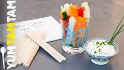 Gemüsesticks mit Dip // gesunde Snacks für die Prüfungszeit #4 // #yumtamtam