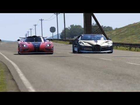 Koenigsegg One vs Bugatti Divo ( Fail ) at Highlands