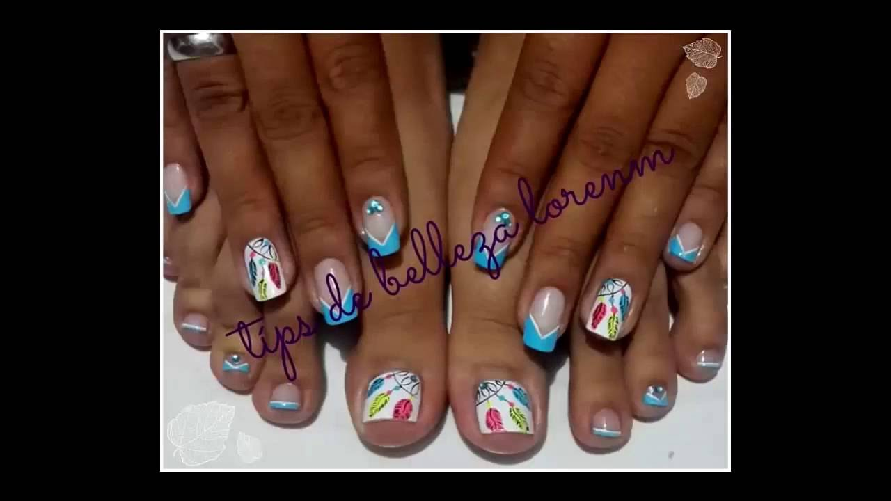Diy Unas Decoradas Con Atrapasuenos Nails Decorated Youtube