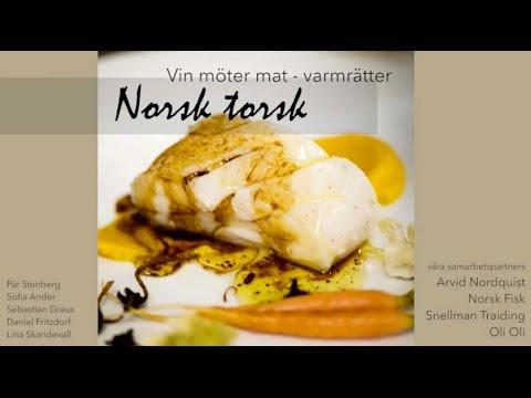 Vin Möter Mat Presentation Lag 2 Varmrätt fisk