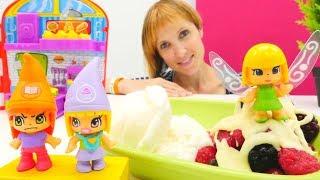 Десерт для игрушек Pinypon - Готовим вместе - Видео для девочек