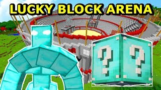 Minecraft: DIAMENTOWY MUTANT GOLEM vs DIAMOND LUCKY BLOCK- Lucky Block Arena