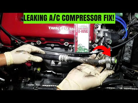 How To Replace A Leaking A/C Line O-ring! | Infiniti G20 Leaking A/C Compressor Fix!