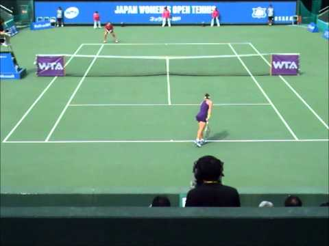 ■ JAPAN WOMEN'S OPEN TENNIS 2014 ■ Samantha STOSUR VS Zarina DIYAS part1
