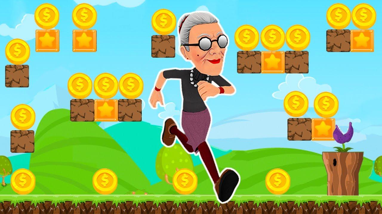 Angry Gran Run - Aventuras Geniales de Angry - Juegos para Niños Pequeños