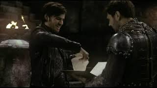 Король Артур помогает  Киллиану найти книгу сказок  5x21