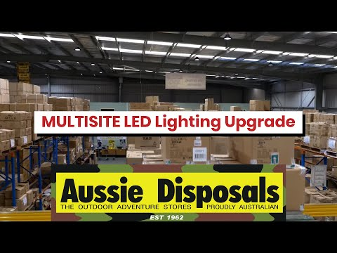 Aussie Disposals, 12 Store 'multisite' LED Lighting Upgrade Well Known Retail Store