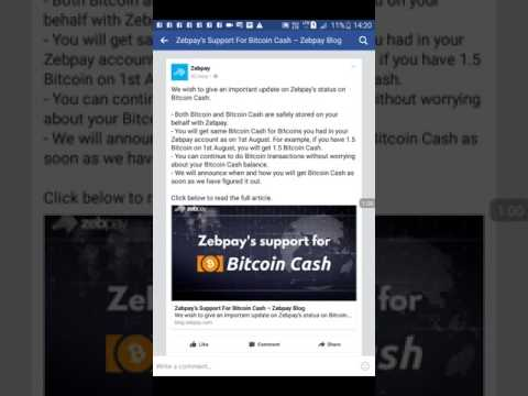 Zebpay Support Bitcoin Cash Devtube