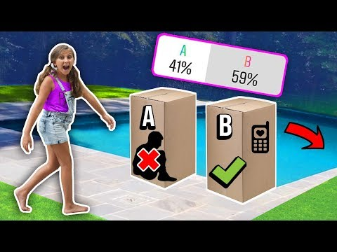 Don't push THE WRONG mystery box into THE POOL - You decide!