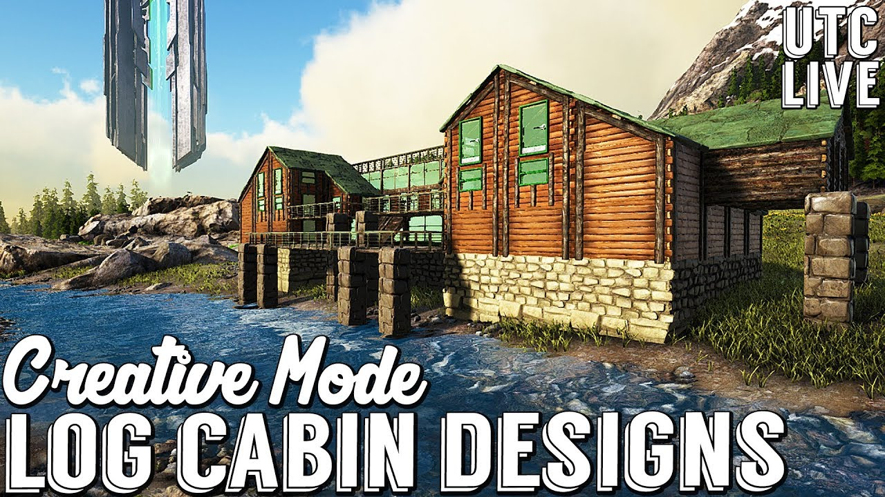 Ark creative mode building log cabin mansion ark cabin ark creative mode building log cabin mansion ark cabin building designs malvernweather Image collections