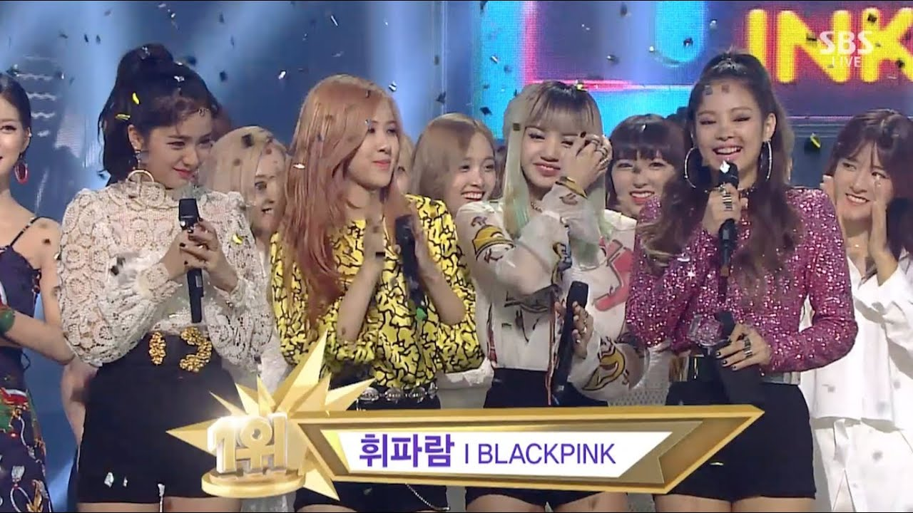 BLACKPINK​ - '붐바야(BOOMBAYAH)' 0821 SBS Inkigayo : '휘파람(WHISTLE)' NO.1 OF THE WEE