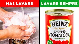 10 cibi che dovresti e non dovresti lavare prima di cuocere
