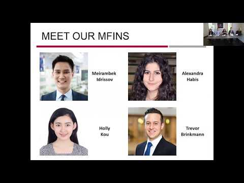 MIT Sloan: MFin Student Experience Panel