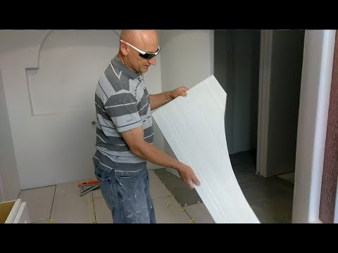 How to fit, cut, install larger tile around curved edge walls