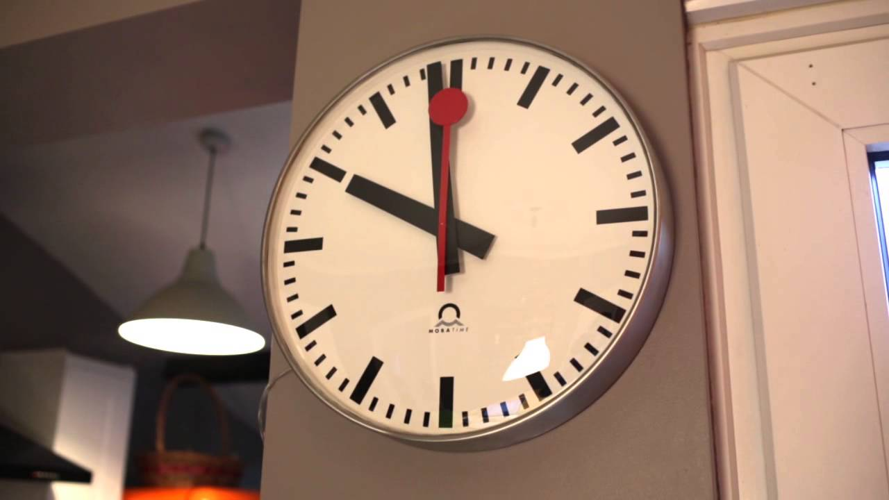 Swiss Railway Clock At Home Youtube