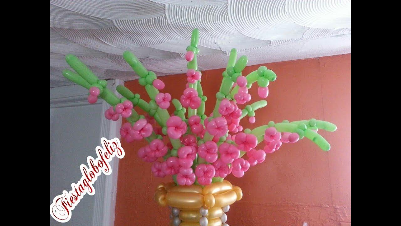 Como hacer flores gladiolos con globos youtube - Decoracion de jarrones con flores artificiales ...