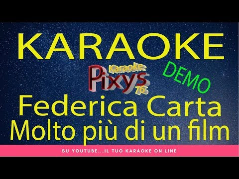 Federica Carta - Molto più di un film Karaoke Demo