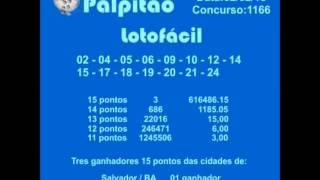 LOTOFACIL CONCURSO 1166  02022015