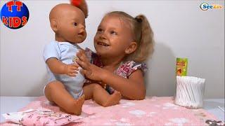 ✔ Кукла Беби Борн. Ярослава заботится о своей Игрушке / Baby Born Dolls. Yaroslava takes care of Toy