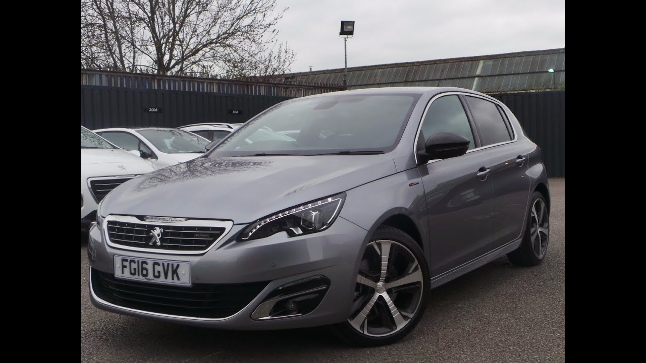 2016 16 peugeot 308 2 0 bluehdi 150 gt line 5dr coming soon in grey youtube. Black Bedroom Furniture Sets. Home Design Ideas