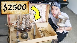 REAL MYSTERY TREASURE CHEST UNBOXING! You wont believe what we found... (WORTH $10,000)