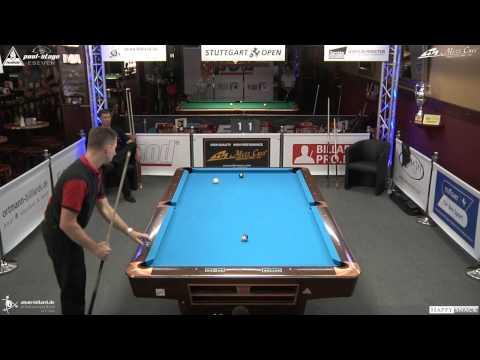 Stuttgart Open 2014, No. 02 Dirk Patz vs. Christian Maxeiner, 10-Ball, Pool-Billard, Cue Sports