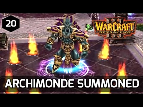 Warcraft 3 Story ► Kel'Thuzad Summons Archimonde - Undead Campaign