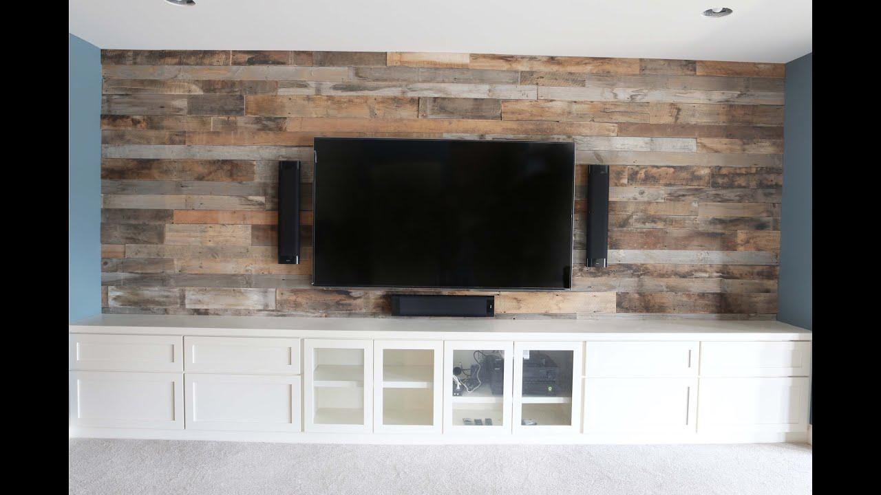 Reclaimed Barn Wood Wall Installation - YouTube