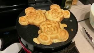 Making REAL Mickey Waffles....AT HOME!!