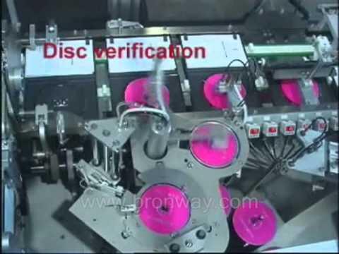 Bronway CD DVD Case Packing Machine.