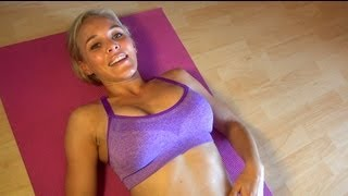 Beautiful Womens Abdominal Exercise: Pilates Roll up