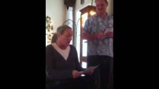 mom reaction to christmas present...U2 concert tickets