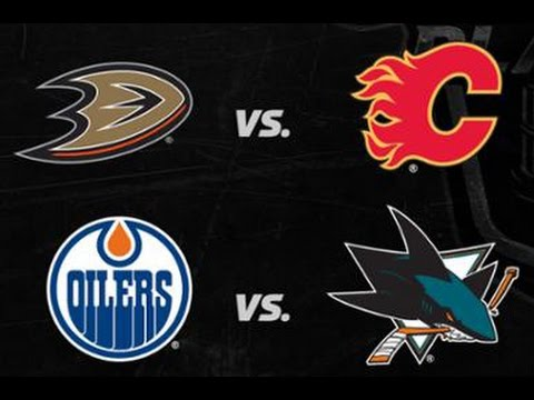 NHL 2017 Stanley Cup Playoffs - Pacific Division Round 1 | Oilers vs Sharks | Ducks vs Flames