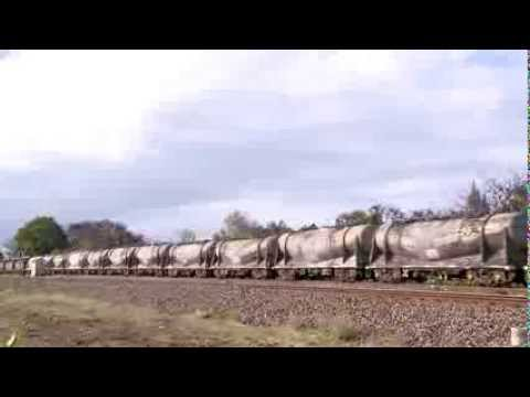 Freight Train: Cement and Sugar Hoppers - PoathTV Australian Trains
