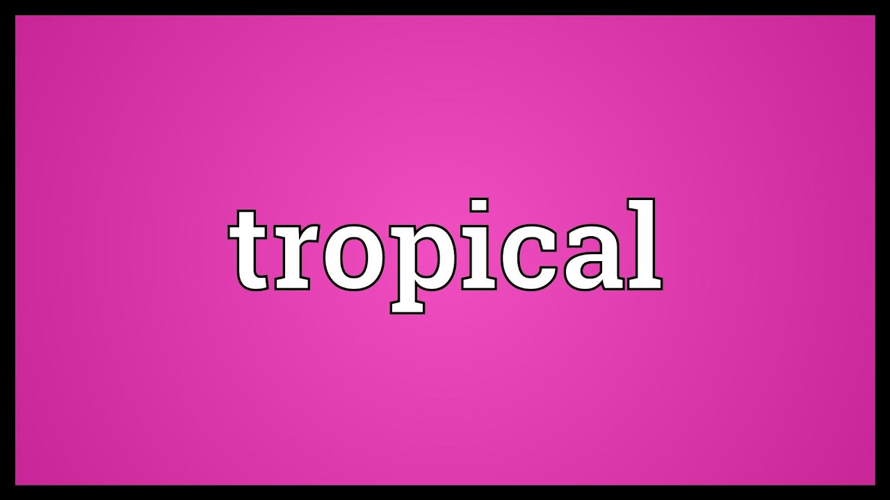 Tropical Meaning