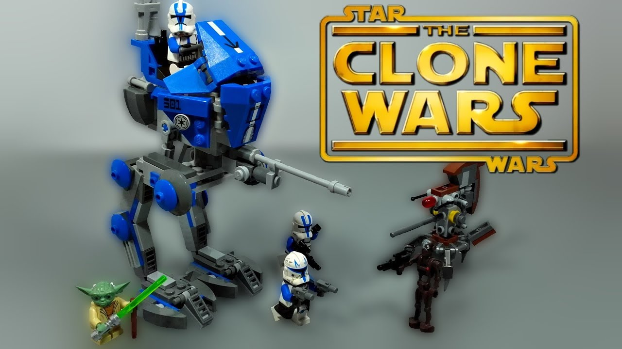 Lego Star Wars The Clone 501st At Rt Walker 75002 Review 75157 Captain Rexamp039s Te