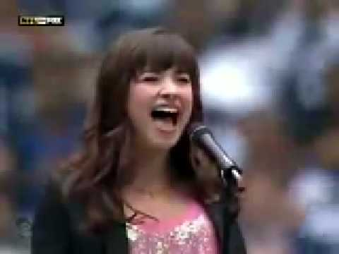 Demi Lovato - American National Anthem LIVE - Cowboys vs. Seahawks '08 (HD/HQ)