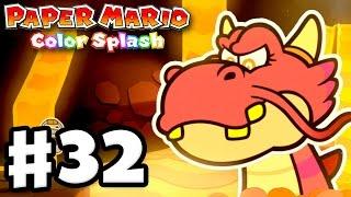 Paper Mario: Color Splash - Gameplay Walkthrough Part 32 - Redpepper Volcano 100%! (Nintendo Wii U)