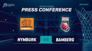 CEZ Nymburk v Brose Bamberg - Press Conference - Basketball Champions League 2018-19