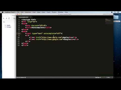 HTML5 Forms Tutorial | The HTML5 Autocomplete Attribute